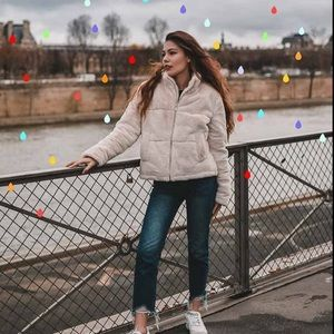 NWOT Zara Textured Puffer Jacket